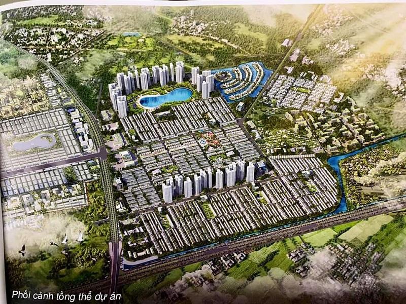 Phối cảnh 800ha Vinhomes cạnh dự án Khu nhà ở Phố Mới Văn Giang