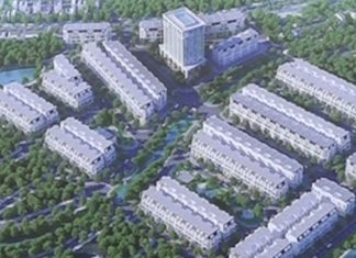 Phối cảnh dự án Khu nhà ở Phố Mới Văn Giang