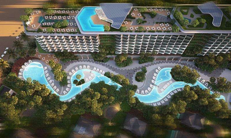 Phối cảnh dòng sông trong dự án Grand Mercure Hội An - Điện Bàn - Quảng Nam