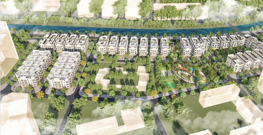 Phối cảnh dự án The Diamond Point C14 Phúc Đồng - Long Biên