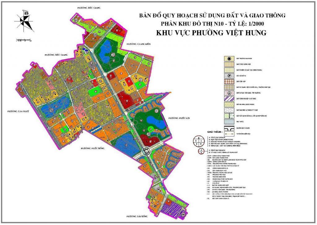 Quy hoạch sử dụng đất khu đô thị Việt Hưng - Long Biên