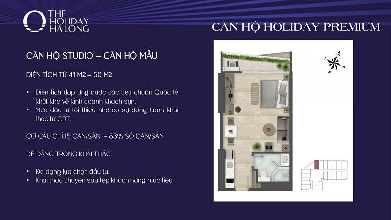 Thiết kế căn studio dự án The Holiday Bãi Cháy - Hạ Long