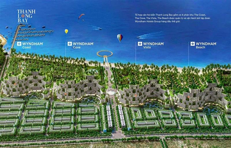 4 phân khu căn hộ biển Wyndham dự án Thanh Long Bay - Kê Gà - Bình Thuận