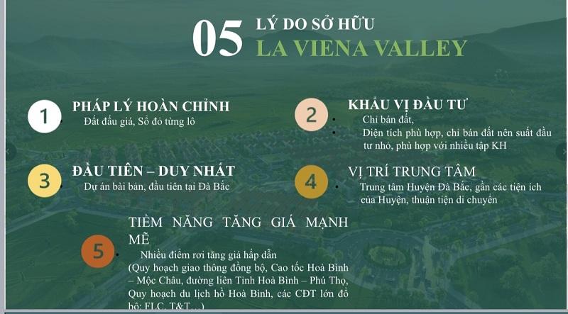 5 lí do nên sở hữu dự án đất nền La Viena Valley Đà Bắc - Hòa Bình