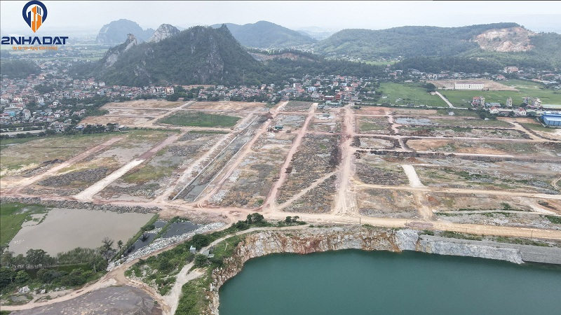 Ảnh thực tế 2 tiến độ dự án đất nền Bắc Phú Thứ - Kinh Môn - Hải Dương