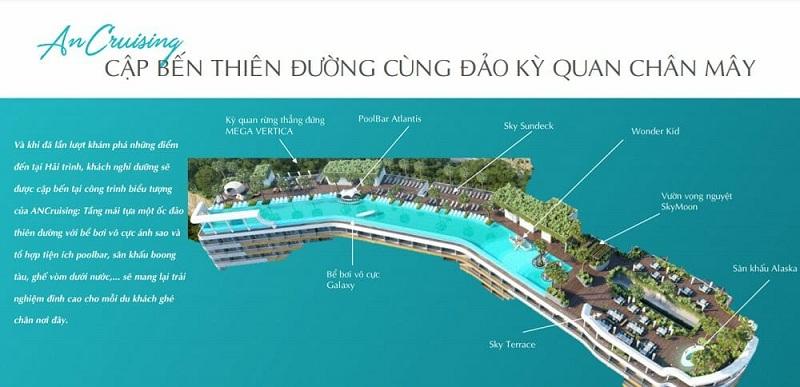 Bể bơi vô cực dự án căn hộ AnCruising Anh Nguyễn An Viên - Nha Trang