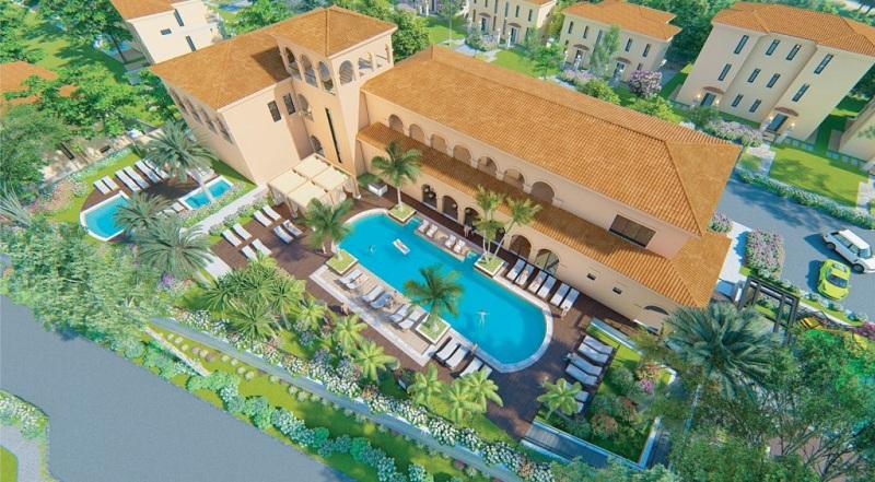 Bể bơi dự án Wyndham Sky Lake Chương Mỹ Villas & Resort