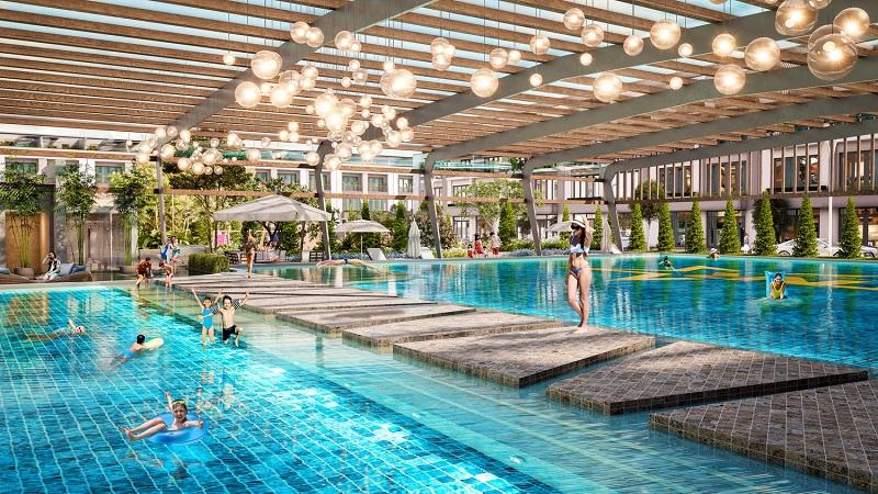 Bể bơi dự án TNR Stars Cổ Đam - Bỉm Sơn - Thanh Hóa
