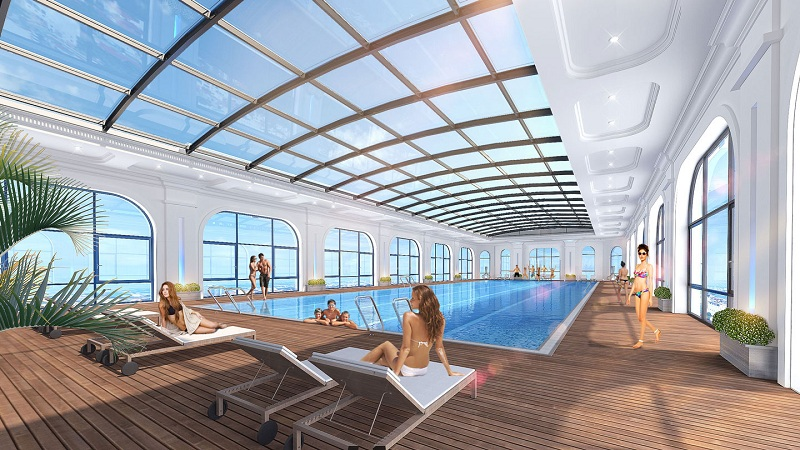 Bể bơi trong nhà dự án Eurowindow Lake City Hoàng Mai - Yên Sở