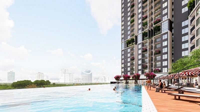 Bể bơi vô cực dự án Eurowindow Lake City Hoàng Mai - Yên Sở