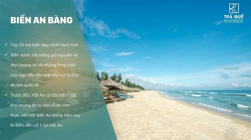 Biển An Bàng cạnh dự án đất nền Trà Quế Riverside Hội An - Quảng Nam