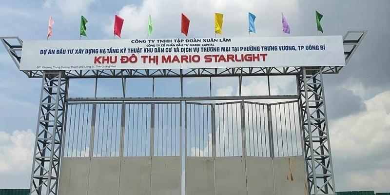 Cổng dự án Mario Starlight Xuân Lãm - Trưng Vương - Uông Bí
