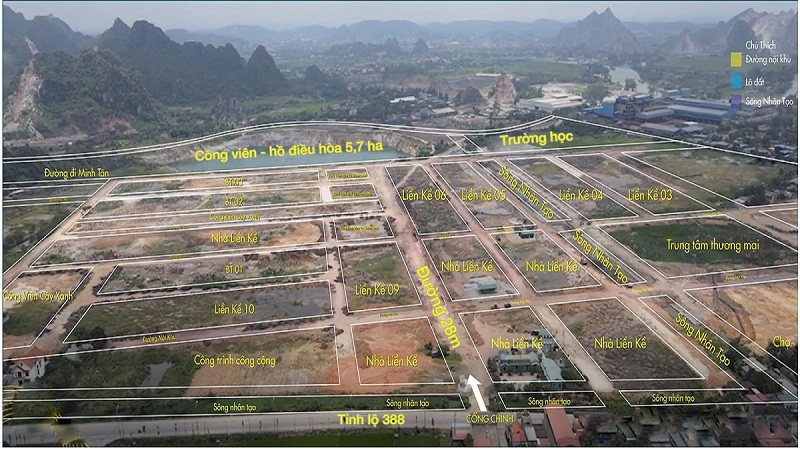 Flycam 2 dự án đất nền Bắc Phú Thứ - Kinh Môn - Hải Dương