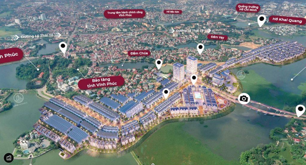 Flycam dự án River Bay Vĩnh Yên - Bắc Đầm Vạc