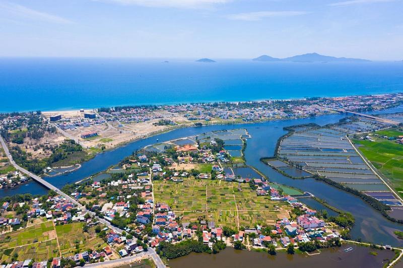 Flycam thực tế 4 dự án đất nền Trà Quế Riverside Hội An - Quảng Nam