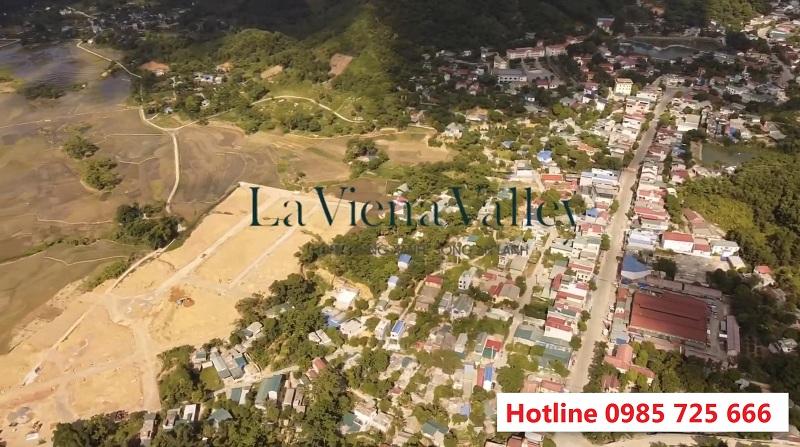 Flycam thực tế dự án đất nền La Viena Valley Đà Bắc - Hòa Bình