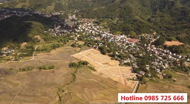 Flycam thực tế 2 dự án đất nền La Viena Valley Đà Bắc - Hòa Bình
