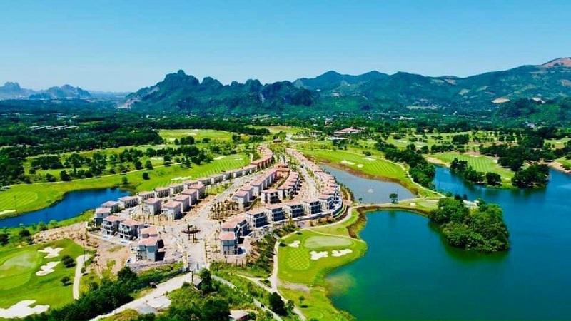 Flycam 1 thực tế dự án Wyndham Sky Lake Resort & Villas Chương Mỹ