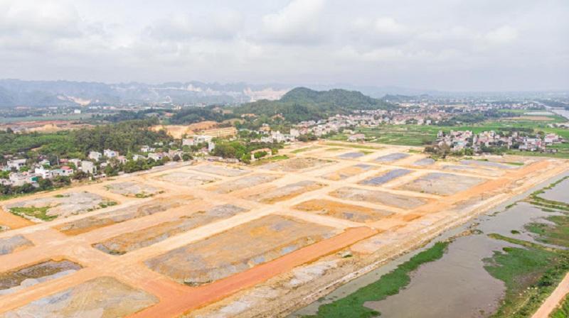 Flycam tiến độ thực tế 1 dự án TNR Stars Cổ Đam - Bỉm Sơn - Thanh Hóa