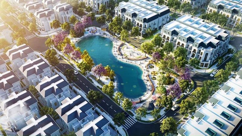 Hồ điều hòa khu đất đấu giá Phương Đông Green Valley Lương Sơn - Hòa Bình
