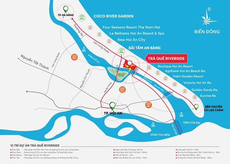 Kết nối dự án đất nền Trà Quế Riverside Hội An - Quảng Nam