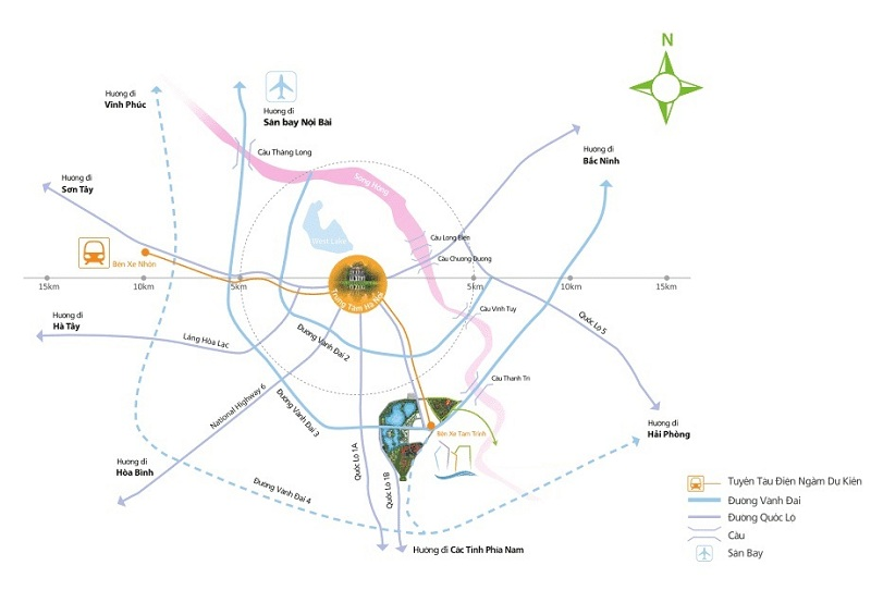 Kết nối dự án Eurowindow Lake City Hoàng Mai - Yên Sở