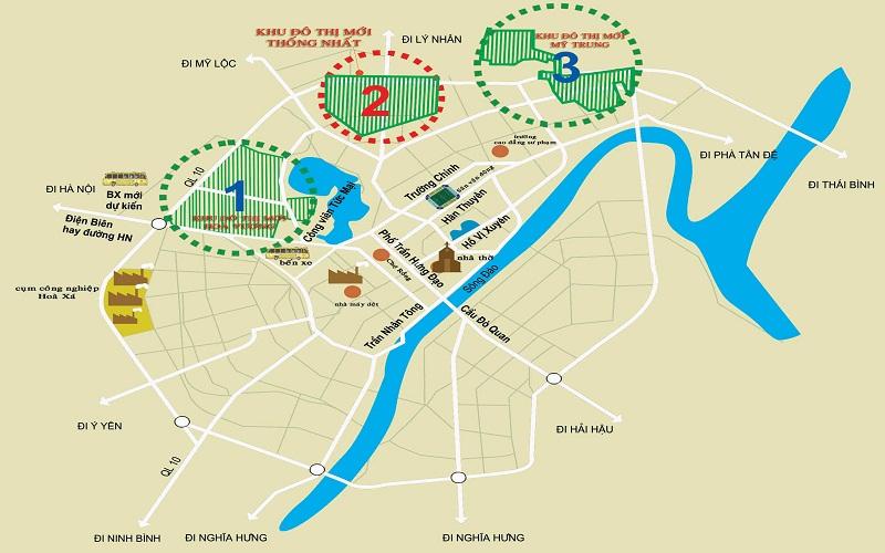 Kết nối khu đô thị Mỹ Trung Nam Định