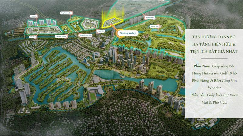 Kết nối phân khu Spring Valley 1C Ecopark - Thung Lũng Mùa Xuân