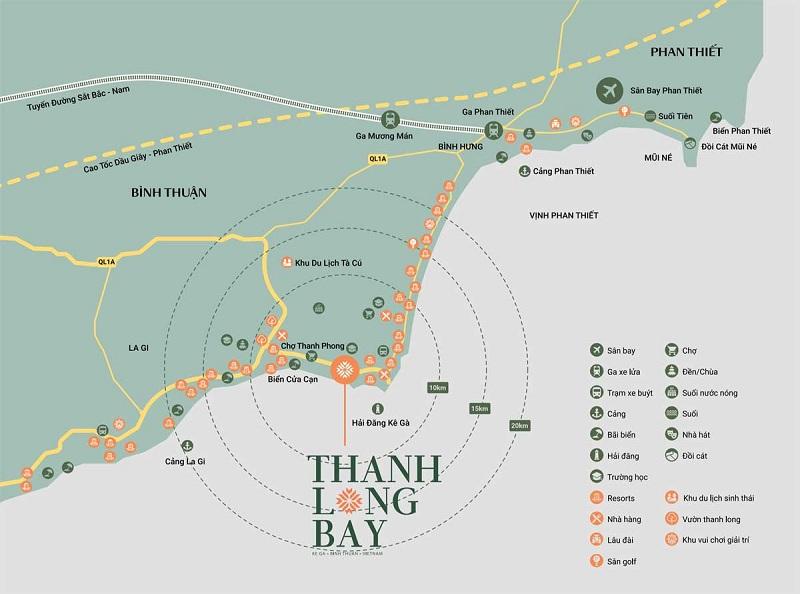 Kết nối dự án Thanh Long Bay - Kê Gà - Bình Thuận