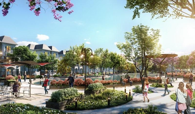 Không gian xanh khu đất đấu giá Phương Đông Green Valley Lương Sơn - Hòa Bình