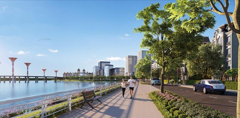 Không gian xanh dự án River Bay Vĩnh Yên - Bắc Đầm Vạc