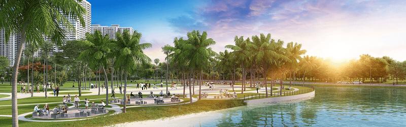 Không gian xanh dự án Vinhomes Dream City Văn Giang - Hưng Yên
