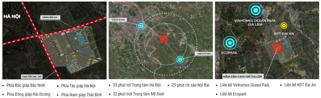 Liên kết vùng dự án Vinhomes Dream City Văn Giang - Hưng Yên