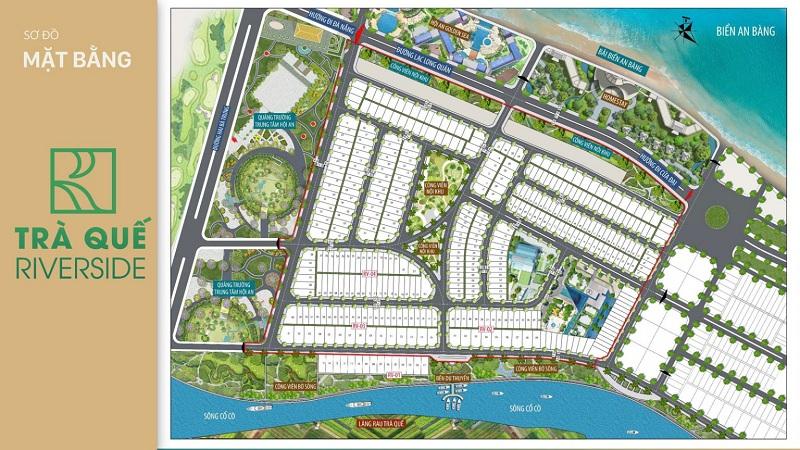 Mặt bằng phân lô dự án đất nền Trà Quế Riverside Hội An - Quảng Nam