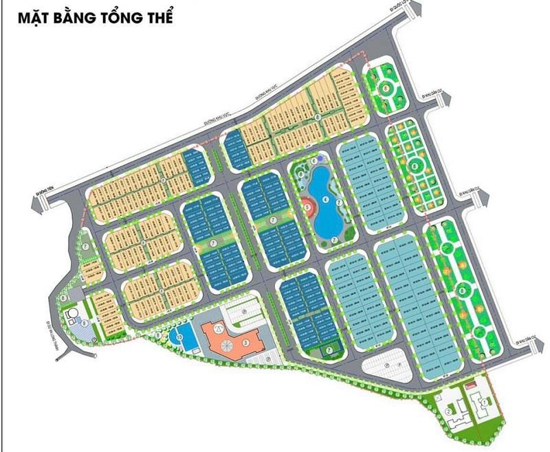 Mặt bằng phân lô khu đất đấu giá Phương Đông Green Valley Lương Sơn - Hòa Bình