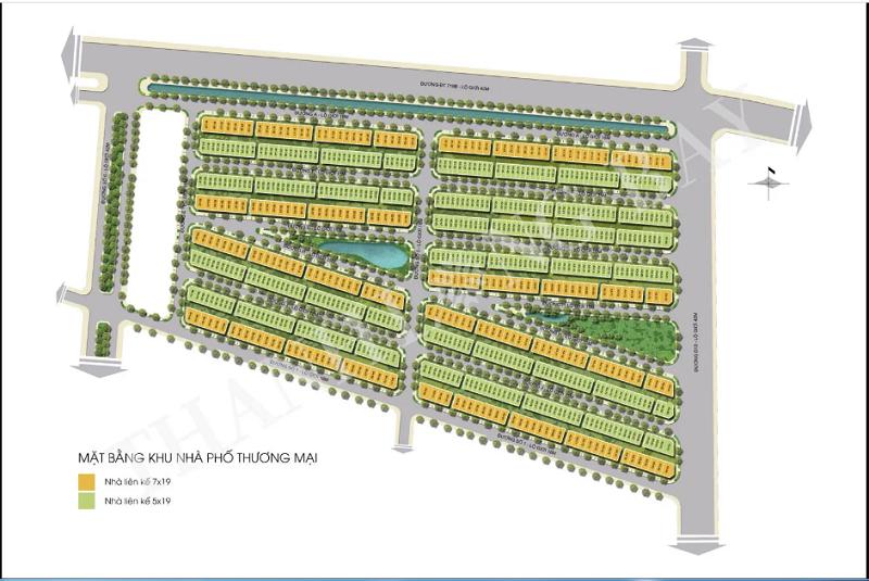 Mặt bằng phân lô nhà phố thương mại dự án Thanh Long Bay - Kê Gà - Bình Thuận