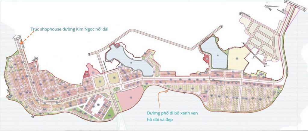 Mặt bằng quy hoạch dự án River Bay Vĩnh Yên - Bắc Đầm Vạc