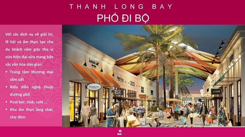 Phố đi bộ dự án Thanh Long Bay - Kê Gà - Bình Thuận