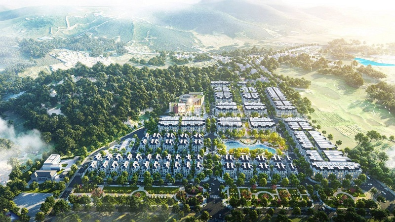 Phối cảnh 1 khu đất đấu giá Phương Đông Green Valley Lương Sơn - Hòa Bình