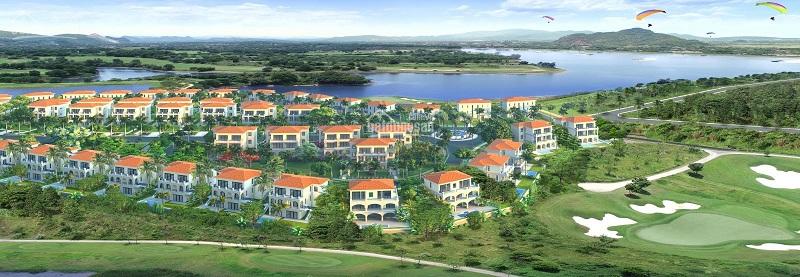 Phối cảnh 2 dự án Wyndham Sky Lake Chương Mỹ Villas & Resort