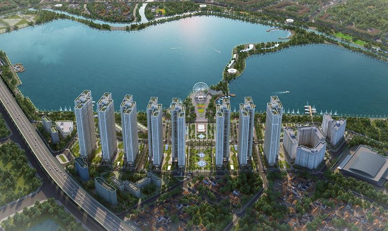 Phối cảnh 4 dự án Eurowindow Lake City Hoàng Mai - Yên Sở
