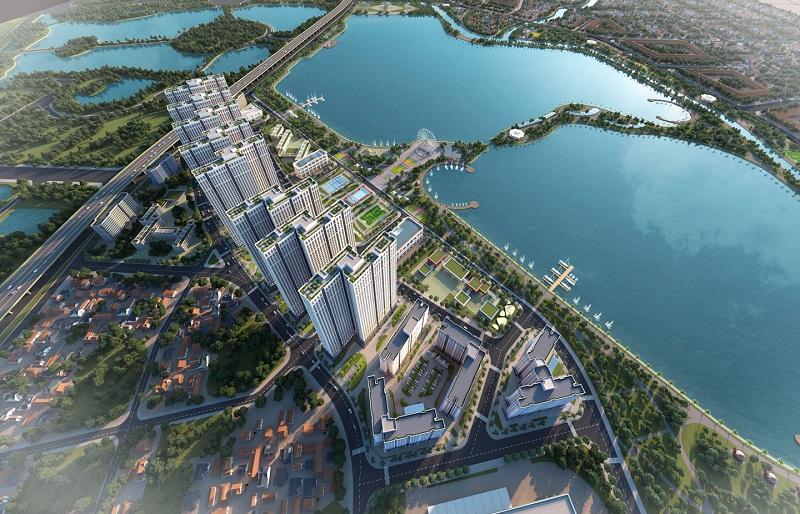 Phối cảnh 5 dự án Eurowindow Lake City Hoàng Mai - Yên Sở