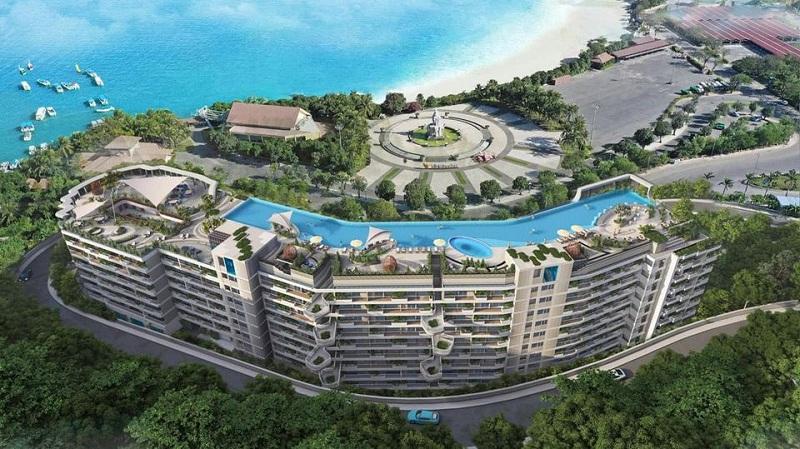 Phối cảnh bể bơi dự án căn hộ AnCruising Anh Nguyễn An Viên - Nha Trang