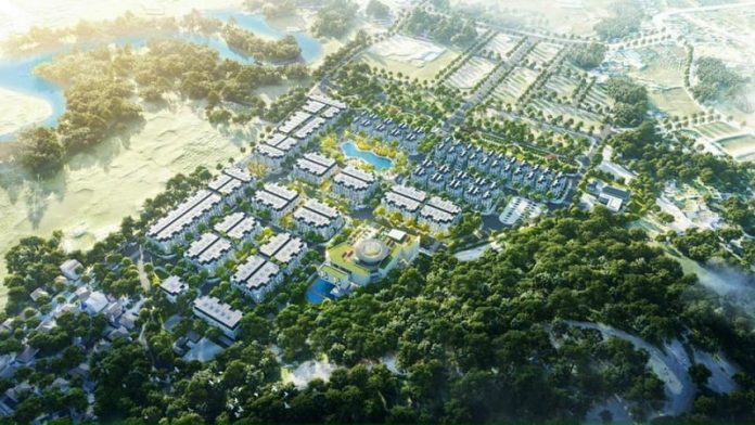 Phối cảnh khu đất đấu giá Phương Đông Green Valley Lương Sơn - Hòa Bình