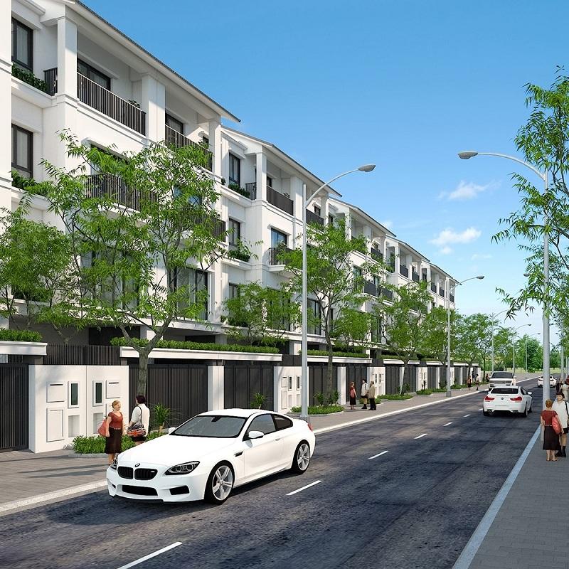 Phối cảnh nhà phố dự án đất nền Bắc Phú Thứ - Kinh Môn - Hải Dương