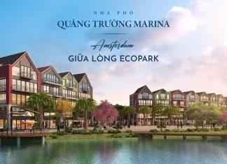 Phối cảnh Khu nhà phố quảng trường Marina Ecopark
