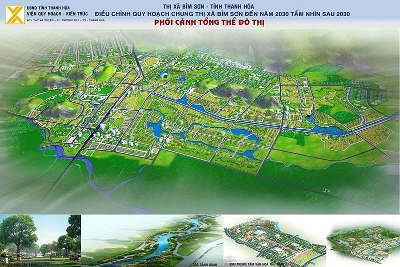 Phối cảnh quy hoạch dự án TNR Stars Cổ Đam - Bỉm Sơn - Thanh Hóa