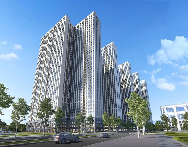 Phối cảnh tòa nhà dự án Eurowindow Lake City Hoàng Mai - Yên Sở