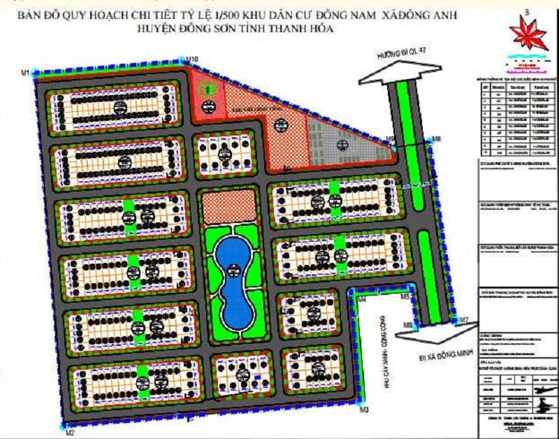 Quy hoạch 1/500 khu đất đấu giá Đồng Nam - Đông Sơn - Thanh Hóa