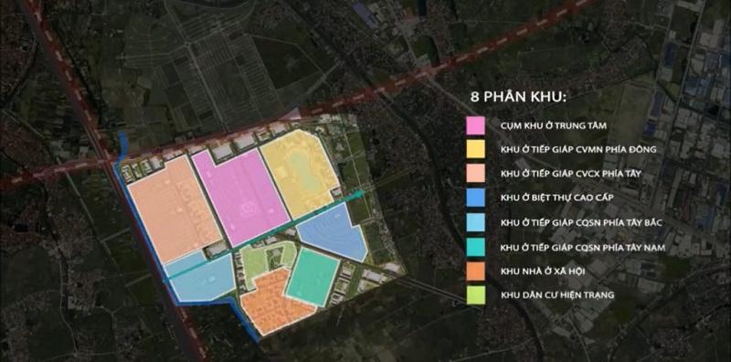 Quy hoạch 8 phân khu dự án Vinhomes Dream City Văn Giang - Hưng Yên